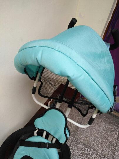 乐卡(Lecoco)儿童三轮车 三轮宝宝推车 多功能婴儿脚踏车 尼诺二代免充气钛空轮 酷炫黄 晒单图
