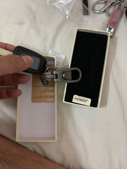JOBON中邦圈汽车钥匙扣链拉簧腰挂式 ZB-071B黑镍 创意礼品 晒单图