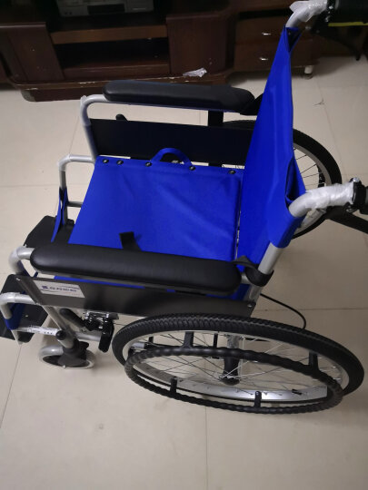互邦 轮椅老人铝合金折叠轻便残疾人轮椅车 HBL20空心胎 晒单图