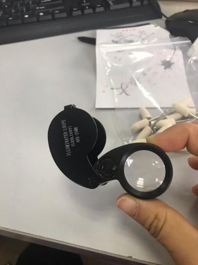 paulone 高倍40倍LED灯珠宝放大镜40倍放大镜玉器古董字画鉴定MG21011-A黑色 晒单图