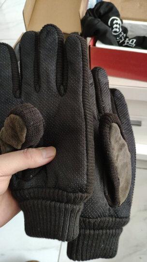博沃尼克 冬季保暖手套加绒加厚学生户外骑行骑车手套 男士防寒防风手套 均码  咖啡色 晒单图