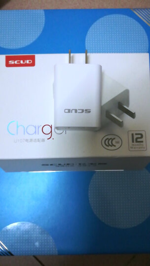 飞毛腿(SCUD) SC-U107 USB电源适配器/快速充电器/输出5V/2A 白色 晒单图