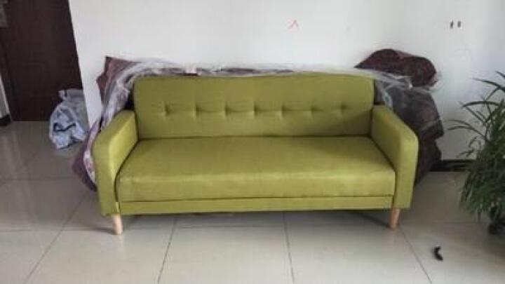 麦瑞 北欧布艺沙发小户型三人位客厅整装公寓沙发双人经济现代简约家具 小北欧-亚麻-浅黑色 小号 晒单图