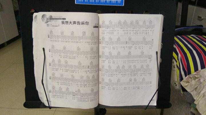 SOU 谱架谱台便携歌谱架吉他琴谱架子乐谱架小提琴谱架子古筝曲谱架子可调节高度伸缩折叠升降 粉色( 带书夹子) 晒单图