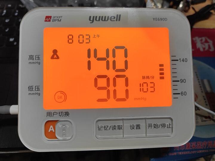 鱼跃(YUWELL)上臂式电子血压计YE680C 双人测量 医用家用智能语音背光 一键静音 高血压测量仪器表 晒单图