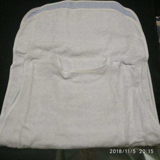 三利 纯棉高密度纱布儿童睡袋 A类安全标准婴幼儿用品 背心式睡衣 防踢被 45×80cm 格点-淡蓝 晒单图