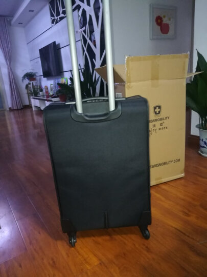 瑞动(SWISSMOBILITY)拉杆箱26英寸商务时尚差旅行李箱 防泼水静音万向轮旅行箱男女 5513黑色 晒单图