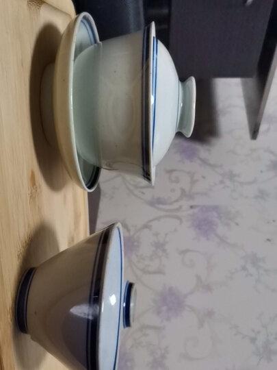 九土手绘青花小茶杯仿明代复古斗笠杯主人功夫茶艺日式茶道品茗杯 单杯 晒单图
