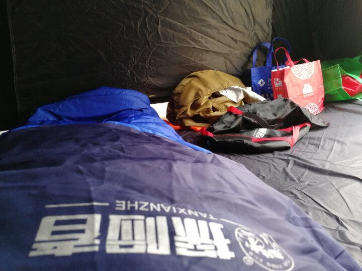 探险者(TAN XIAN ZHE)睡袋户外成人室内春夏秋冬学生双人睡袋四季加厚午休羽绒棉露营隔脏睡袋 单人深蓝色2.3KG送睡眠三宝 晒单图