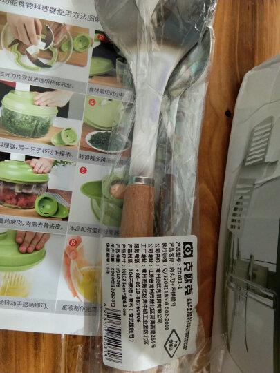 克欧克 多功能碎菜机手动绞肉机 厨房绞蒜泥器切蒜蓉家用姜蒜末搅碎机捣蒜器手摇搅蒜器打蒜头器 晒单图