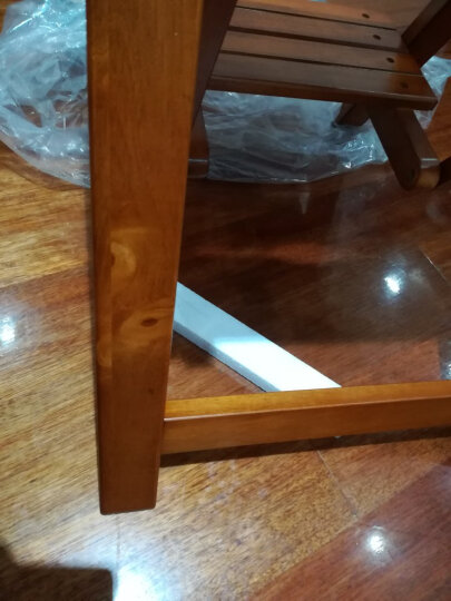 施豪特斯(SHTS) 免安装实木吧台椅子高低凳子换鞋凳楼梯凳FST-65 蜜糖色 晒单图