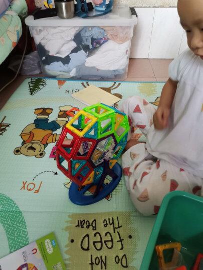 铭塔100件套磁力片积木儿童玩具 儿童小孩男孩女孩百变磁性积木拼插 含54片磁力片+46件配件收纳盒装 晒单图