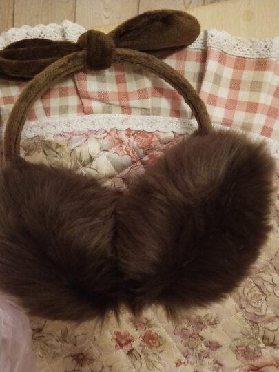 百尚意特 冬季保暖女士儿童耳罩 可爱毛绒加厚耳套 防风耳暖护耳耳包 兔耳朵咖啡色 晒单图