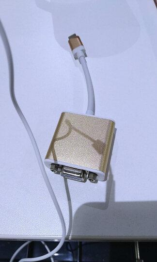 毕亚兹 Type-C转vga转换器 USB3.1转VGA接口投影仪外置显卡 高清1080p支持小米苹果Macbook笔记本 ZH13-金 晒单图