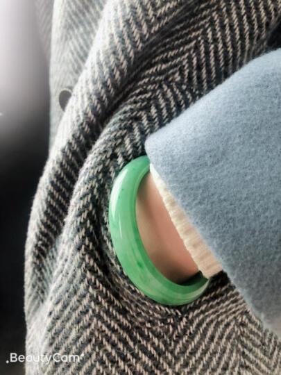 绿翠永恒 天然缅甸老坑A货翡翠手镯 阳绿冰种飘花贵妃窄边紫罗兰圆条玉手镯女款带证书项链戒指 尾款10000元 晒单图