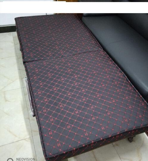 欧莱特曼3D床垫折叠床 单人双人办公室午休午睡床孕妇休息陪护床 黑色刺绣 1米x192x35cm 晒单图