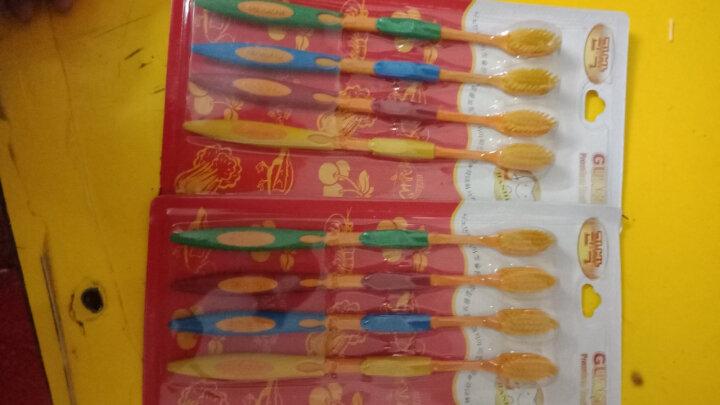 韩国竹炭牙刷4支装 双层设计 竹纤维超细软毛牙刷 纳米树脂牙刷 竹炭黑头有效清洁牙缝 晒单图