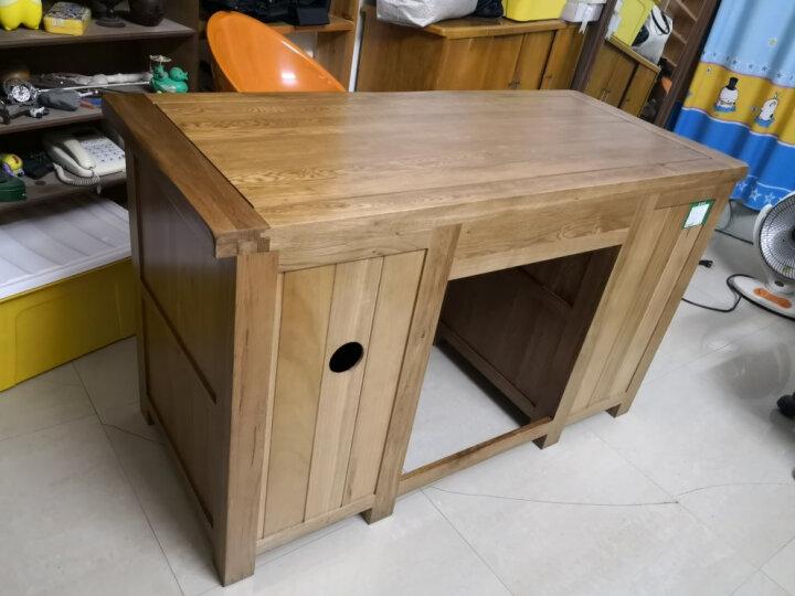 华谊(HUAYI) 华谊 实木书桌 橡木台式电脑桌办公桌写字台 英式乡村仿古书房家具1.5发货 仿古色 晒单图