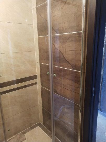 迪玛 淋浴房弧扇型304不锈钢钢化玻璃整体淋浴房间隔断浴室 304不锈钢/6mm/升级金钢膜/石基/平方价 3C认证钢化玻璃 晒单图