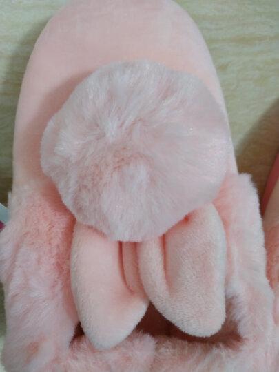 秋冬季棉拖鞋男女情侣全包跟保暖居家居卡通可爱冬天毛毛鞋子包脚 球球全包 粉色 38/39码(合适37/38穿) 晒单图