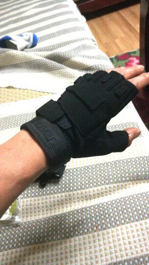 博沃尼克 半指手套运动军迷户外休闲健身登山防滑 骑行战术手套 黑色XL码 晒单图