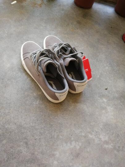 李宁官方男鞋板鞋休闲鞋运动鞋Pure男子经典真皮运动休闲鞋ALCK079 浊普蓝/雪白 43.5 晒单图