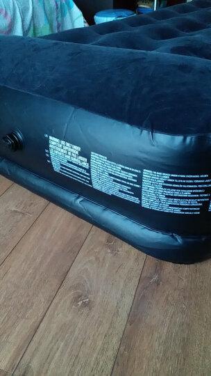 Bestway典雅黑舒美绒时尚单人加厚充气床气垫床充气床垫午休午睡床(内置枕头,附电动充气泵、收纳袋)67453 晒单图