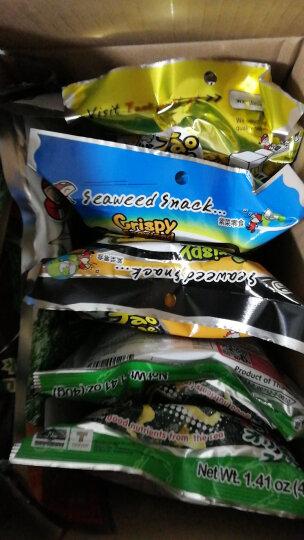 老板仔泰国进口海苔紫菜 大人小孩办公室休闲零食 超大片辣烤鱿鱼味54g 晒单图