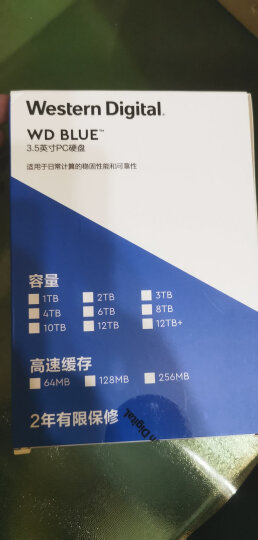 西部数据(WD)紫盘 1TB SATA6Gb/s 64M 监控硬盘(WD10EJRX) 晒单图