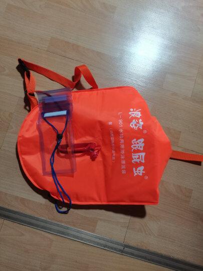 浪姿(LangZi) 浪姿双气囊跟屁虫游泳包L901第四代漂流袋防水 游泳装备28L中号 橘色新品-28L 晒单图