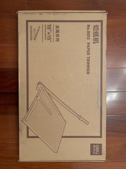 得力(deli) 8012 钢质切纸机/切纸刀/裁纸刀/裁纸机 460mm*380mm 晒单图