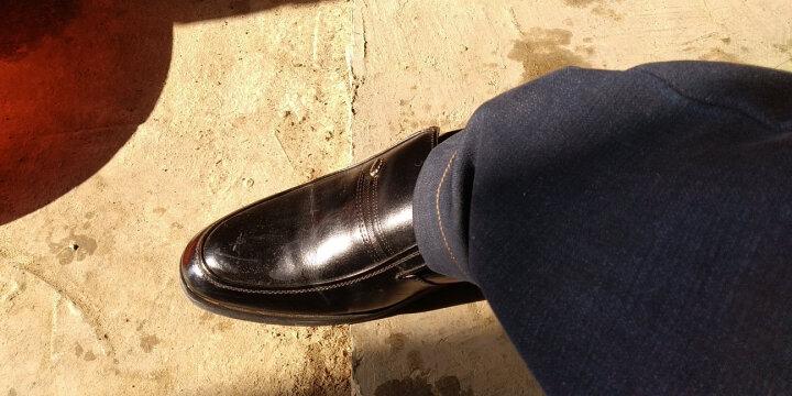 库足 男士皮鞋男鞋商务休闲潮流英伦正装鞋尖头软皮套脚白色皮鞋子288 白色288 40 晒单图