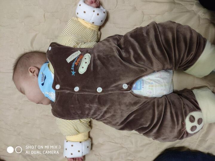 健康快车 秋冬装0-1-2岁男女宝宝衣服冬天婴儿童棉衣套装婴幼儿马甲三件套 5294粉色 73 晒单图