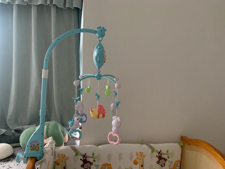 源乐堡(YuanLeBao)婴儿玩具0-1岁床头铃音乐旋转挂饰床铃新生儿礼盒摇铃宝宝牙胶0-12个月 (充电版)【赠增高器】遥控版梦幻森林 绿色 晒单图