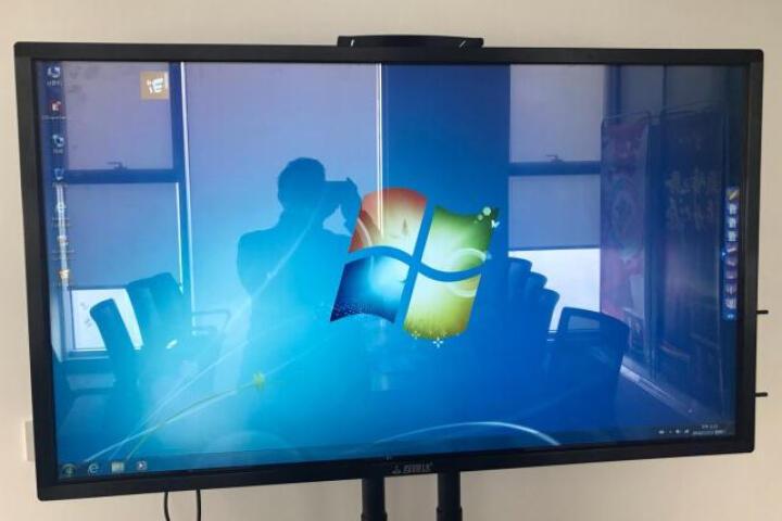 互视达(HUSHIDA)多媒体教学会议一体机触控触摸屏电子白板电视智能会议平板商业显示器 i5/4G/120G固态-带支架 55英寸(双系统) 晒单图
