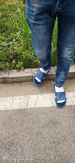 凉拖鞋男士夏季家居家用室内防滑厚底塑料情侣洗澡浴室拖鞋女 亲子儿童款深蓝 32-33(适合20CM脚长) 晒单图