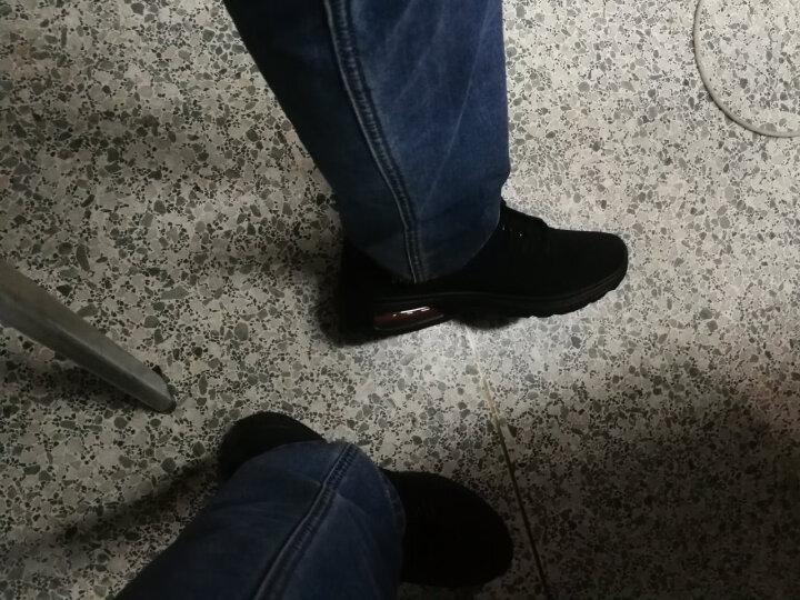 双星跑步鞋男休闲气垫鞋春夏季新款网面透气减震慢跑鞋运动鞋 M9055 酷黑 42 晒单图