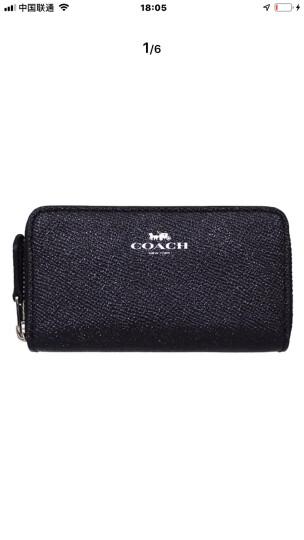 蔻驰 Coach 女式皮质手拿包 腕包 手机包 零钱包 钥匙包 F58035 棕/玫红 晒单图