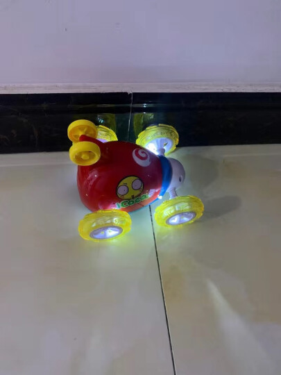 益米 儿童玩具男孩翻斗车特技车遥控汽车 可充电动赛车(颜色随机发货)礼品 晒单图
