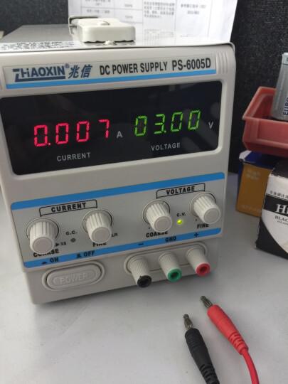 直流稳压电源 兆信直流 线性 开关型 电源 60v稳压恒流5A源 直流电源 RXN-605D 线性电源 标配+5A输出线 晒单图