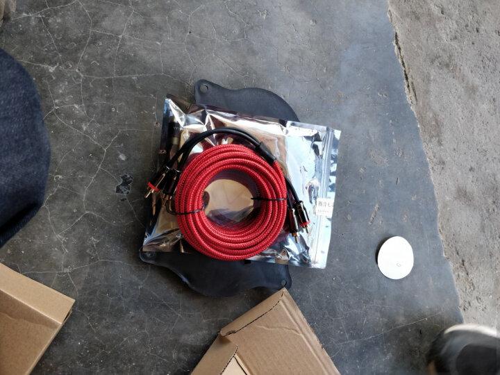 威火仕汽车音响家用功放音频线低音炮改装纯铜两莲花对两莲花高品质AV音频连接线5米 红色5米音频线 晒单图