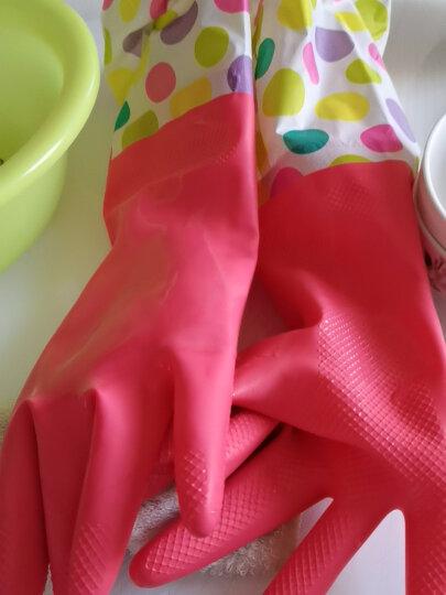 妙洁清洁家务橡胶手套 均码加长护腕防水防滑皮厨房洗碗洗衣 晒单图