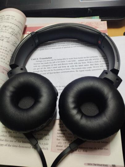 索尼(SONY)MDR-XB550AP 重低音立体声耳机 头戴式 红色 晒单图