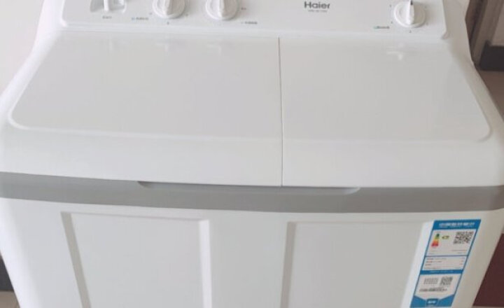 海尔(Haier)7公斤 强力洗涤 双桶双缸洗衣机 XPB70-1186BS 晒单图