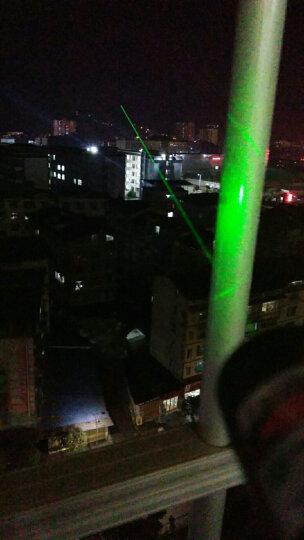 魔铁 激光笔灯手电筒 绿光强光充电防水防身远射镭射笔 红外线天文指星笔售楼部沙盘逗猫棒激光笔 M303蓝色绿光2电1充+8合1效果头 晒单图