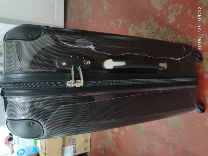 瑞动(SWISSMOBILITY)洲际旅行拉杆箱MT-5556-01T0028英寸四轮万向旋转时尚超轻PC+ABS暗红色 晒单图