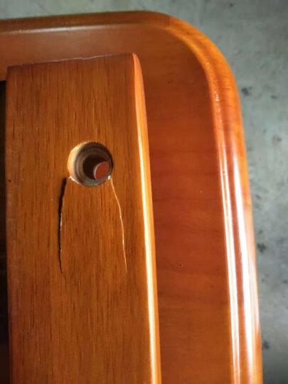 鲁菲特 餐桌 可伸缩折叠实木餐桌餐椅组合套装 饭桌子圆桌  LC-603 1.2米地中海色 一桌6椅 晒单图