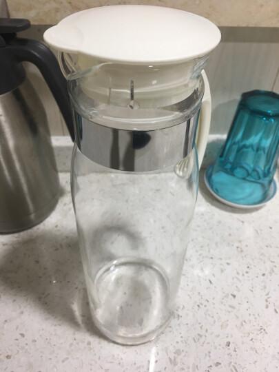 HARIO 日本原装进口 1400ml畅销耐热玻璃不锈钢泡茶冷水壶白色 晒单图