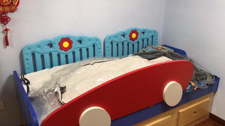 十二色童话(SHIERSETONGHUA) 床围栏婴儿童宝宝防夹手摔掉床护栏挡板 蓝色90cm(一片价格) 床垫厚度18-22cm 晒单图