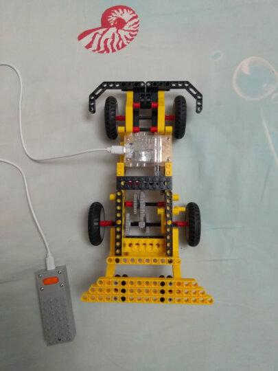 万格科教积木兼容乐高遥控电动车动力机械机器人益智早教玩具小颗粒6-8-10岁男孩玩具礼物 1403蟋蟀 测距车 叉车 单车(292Pcs) 晒单图